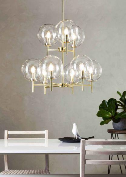 luksusowa lampa wisząca złota