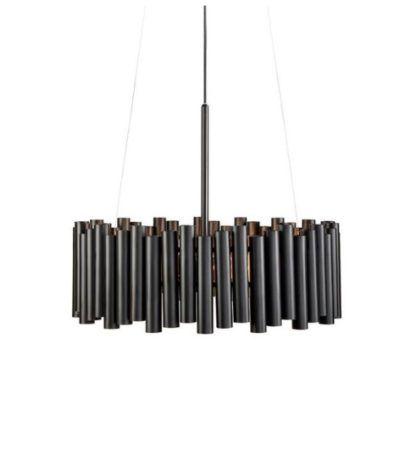 czarna lampa wisząca modern classic