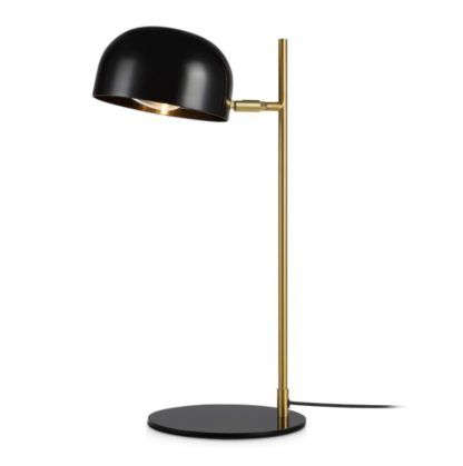 czarno-złota lampa biurkowa