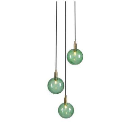 lampa wisząca zielone klosze
