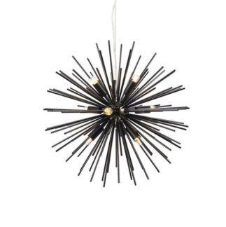 Nowoczesna lampa wisząca Soleil - czarna, 9xE14