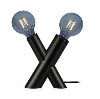Czarna lampa stołowa Simul - 2-punktowa, nowoczesna