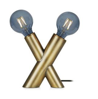 Designerska lampa stołowa Simul - złota
