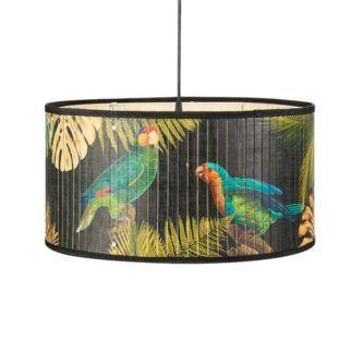 Efektowna lampa wisząca Victorian - motyw w papugi