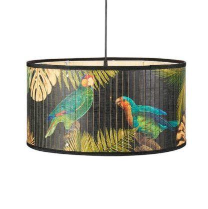 lampa wisząca boho motyw w papugi