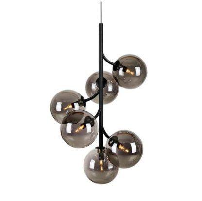 lampa z kloszami dymione szkło do salonu