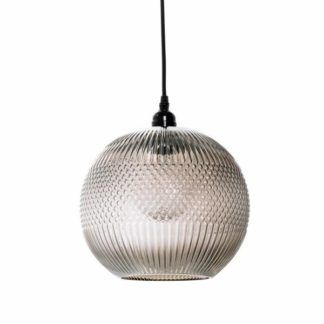 lampa wisząca Vera - szklany klosz z fakturą