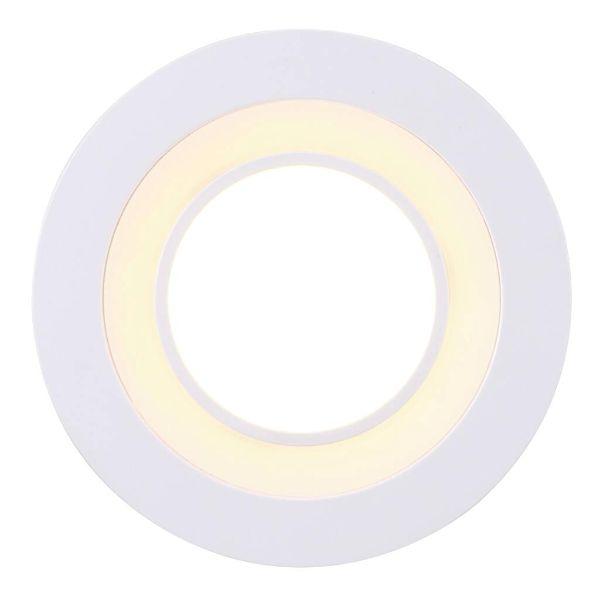 białe oczko sufitowe do salonu
