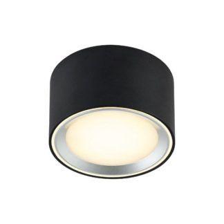 Lampa sufitowa Fallon - LED, czarno-srebrna