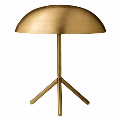 złota lampa stołowa trójnóg