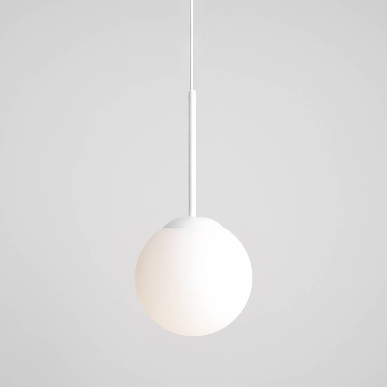 biała lampa wisząca dużo rozmiarów