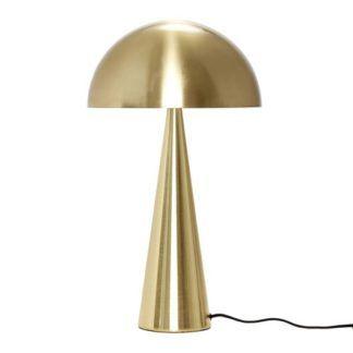 Złota lampa stołowa Cone - szeroki klosz