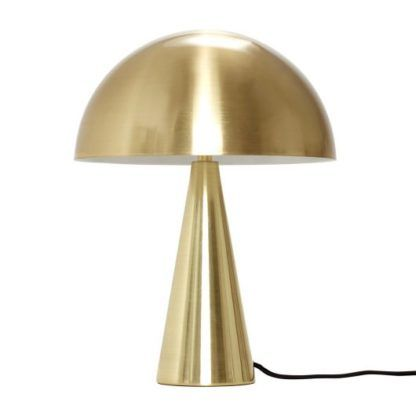 złota lampa stołowa nowoczesny design