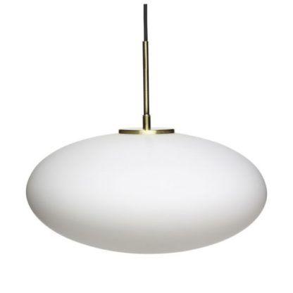 owalna lampa wisząca mleczny klosz
