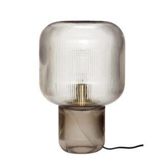 Szklana lampa stołowa Glass - dymione szkło, nowoczesna
