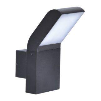 Nowoczesny kinkiet elewacyjny Vidar - czarny, LED