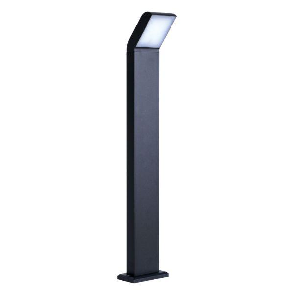 Lampa stojąca Vidar M - czarny słupek LED
