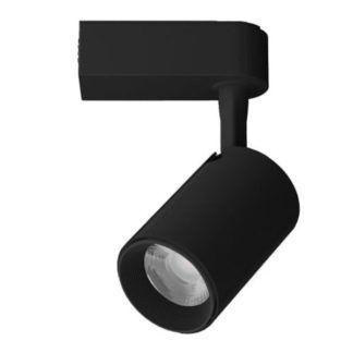 Czarny reflektor sufitowy Leon - system szynowy, zintegrowany LED