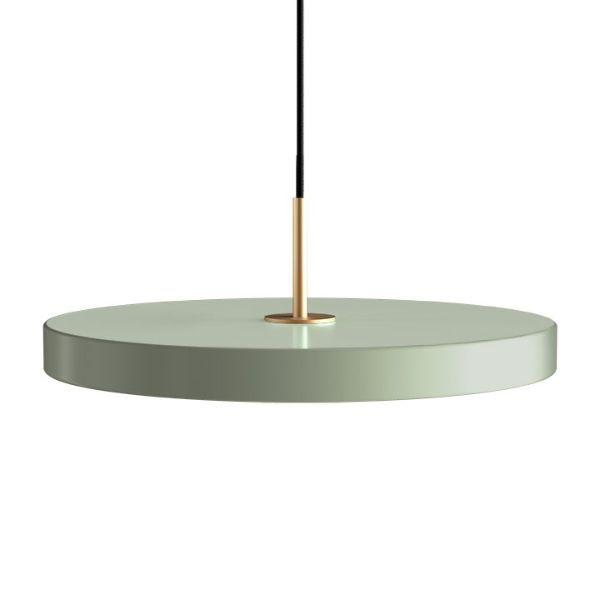 Lampa wisząca Asteria - wbudowany LED, odcień szałwii
