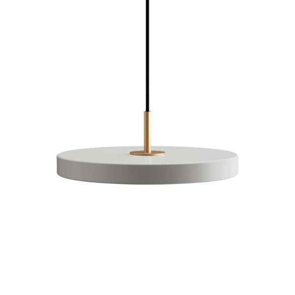 Lampa wisząca Asteria Mini - LED, płaski klosz, szara