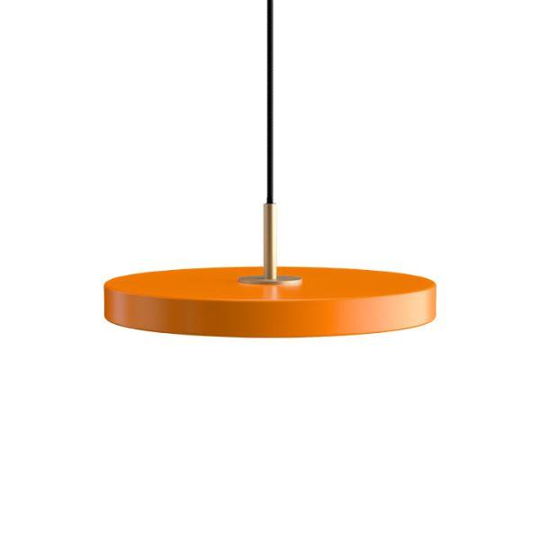 Lampa wisząca Asteria Mini - pomarańczowa, płaski klosz, LED