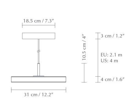 Lampa wisząca Asteria Mini - LED, szałwia