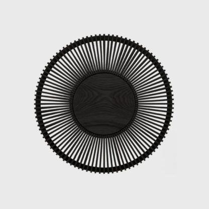 dębowy kinkiet ażurowy czarny