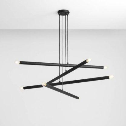 czarny żyrandol do salonu nowoczesny