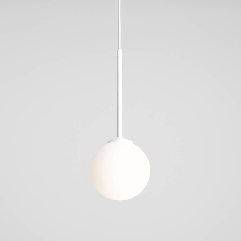 biała kula lampa wisząca