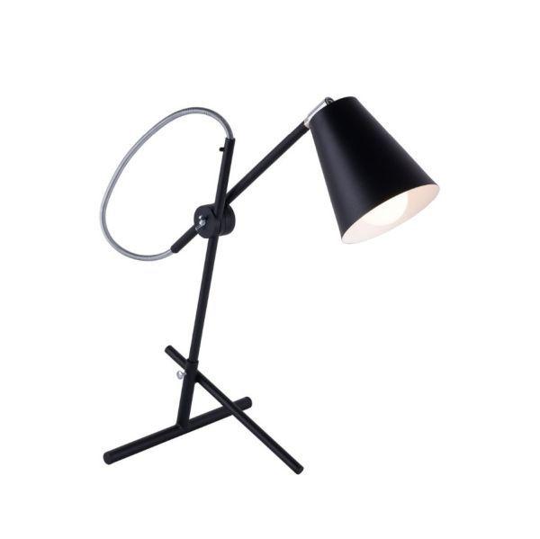 czarna nowoczesna lampa biurkowa