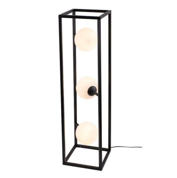 pionowa lampa podłogowa mleczne klosze