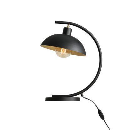 czarna lampa biurkowa łuk