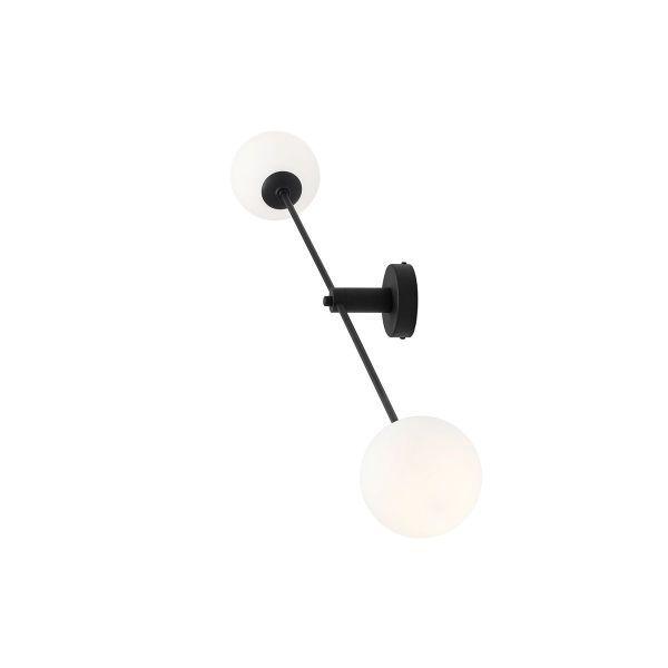 Czarny kinkiet/ lampa sufitowa Ohio - szklane klosze