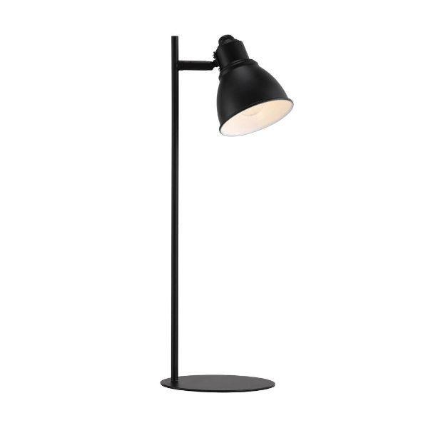 czarna lampa biurkowa regulowany klosz