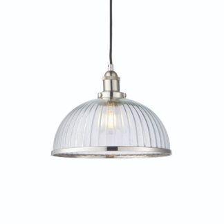 Lampa wisząca Hansen - duży klosz, industrialna