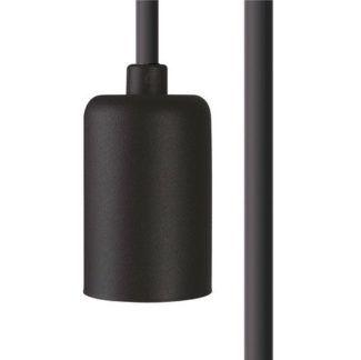 Przewód Cameleon - czarna oprawka, E27, 5m