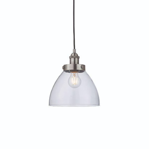 szklana lampa wisząca vintage