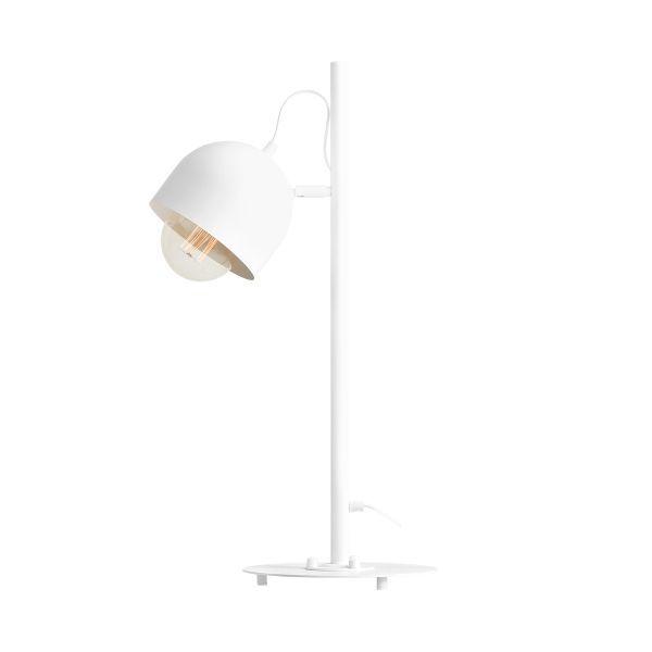 biała lampa biurkowa