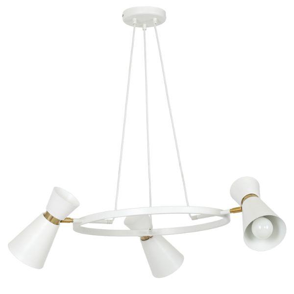 nowoczesny biały żyrandol