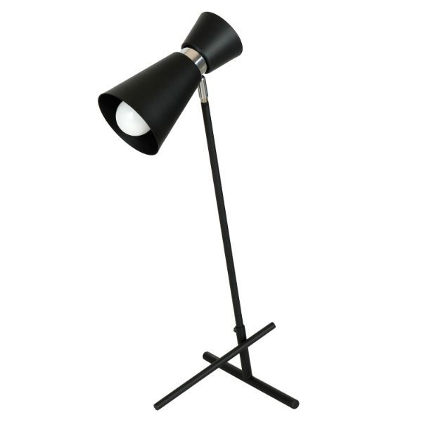 czarna lampka biurkowa
