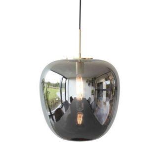 Szklana lampa wisząca Apple Mirror M - złota podusfitka