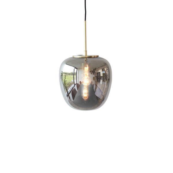 szara lampa ze złotą podsufitką