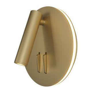 Złoty kinkiet Ios 176 - reflektor LED