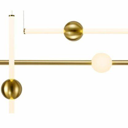 Efektowna lampa wisząca O-Line S-4 - złota, LED