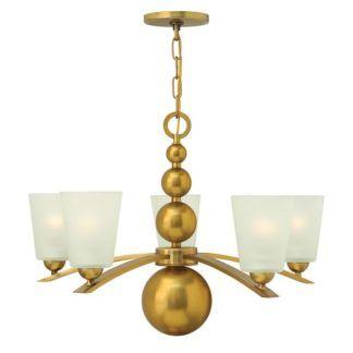 Elegancki żyrandol Lucy - Ardant Decor - złoty, białe klosze