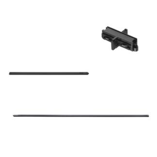 Gotowy zestaw szynowy Link - czarny, 3 metry, zasilanie końcowe