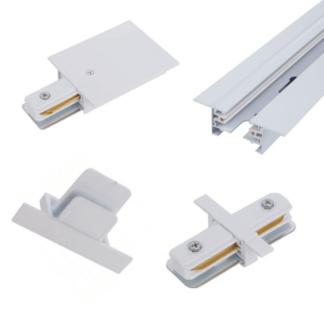 Gotowy system szynowy Profile Recessed - biały, podtynkowy, 3m