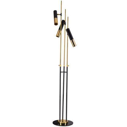 czarno-złota lampa podłogowa