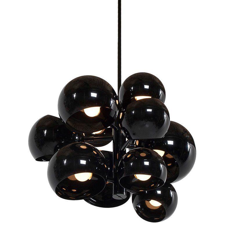 lampa wisząca futurystyczna czerń połysk