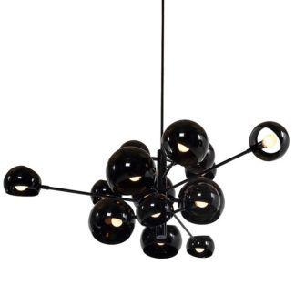 Czarna lampa wisząca Astronomy 15 - designerski klosz